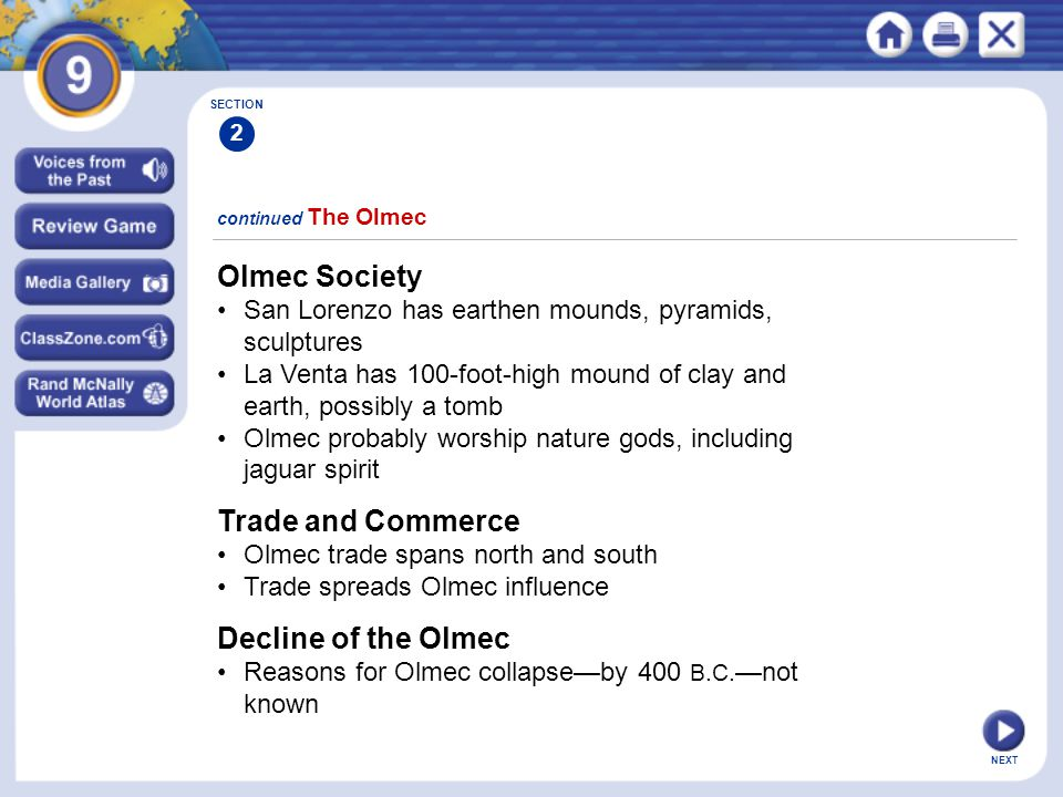 Olmec Society Trade and Commerce Decline of the Olmec