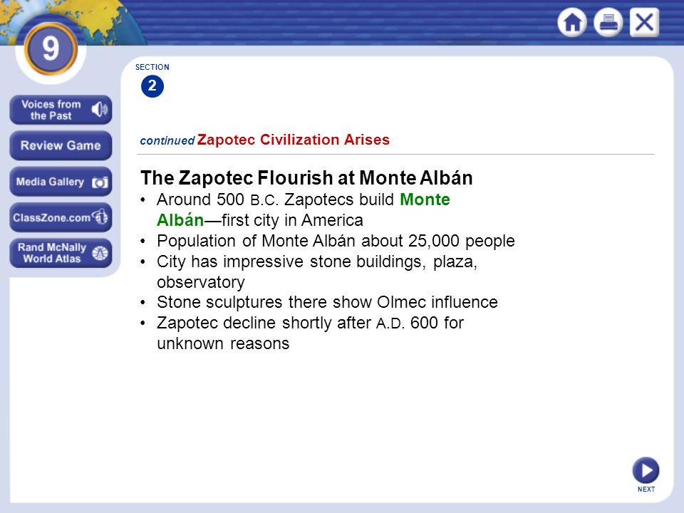 The Zapotec Flourish at Monte Albán