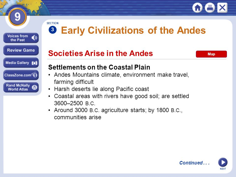 Early Civilizations of the Andes