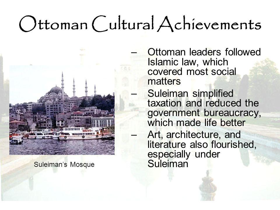 Ottoman Cultural Achievements