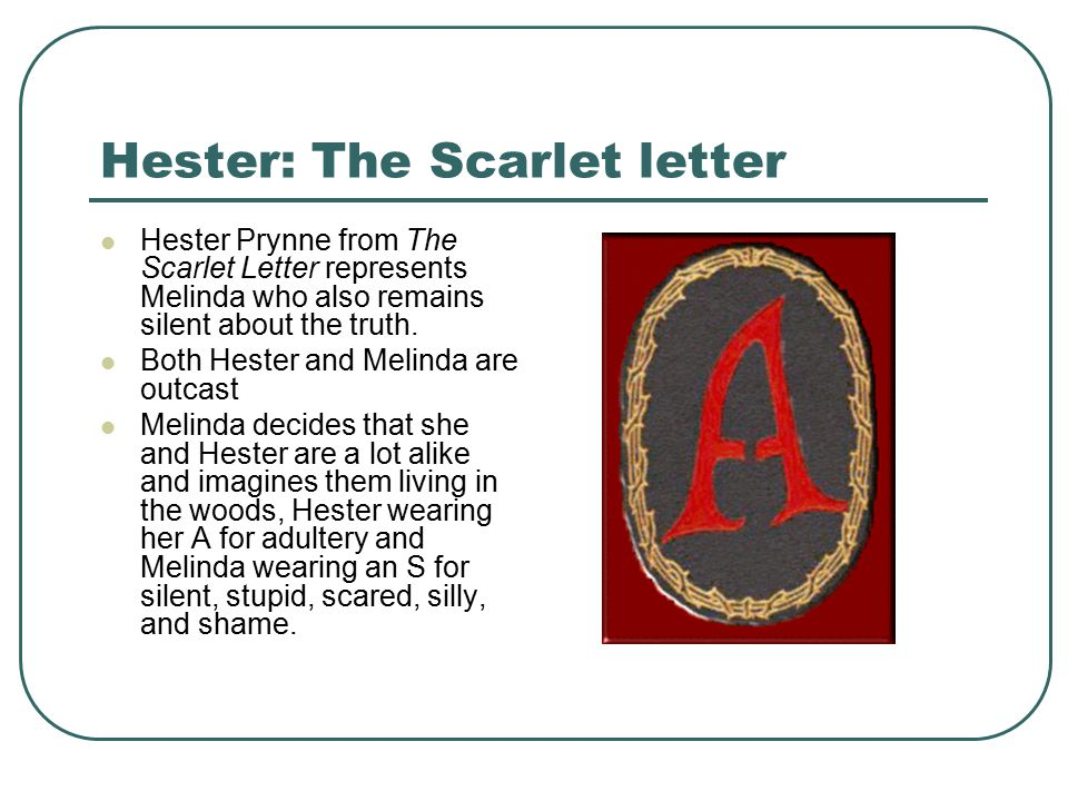 Hester: The Scarlet letter