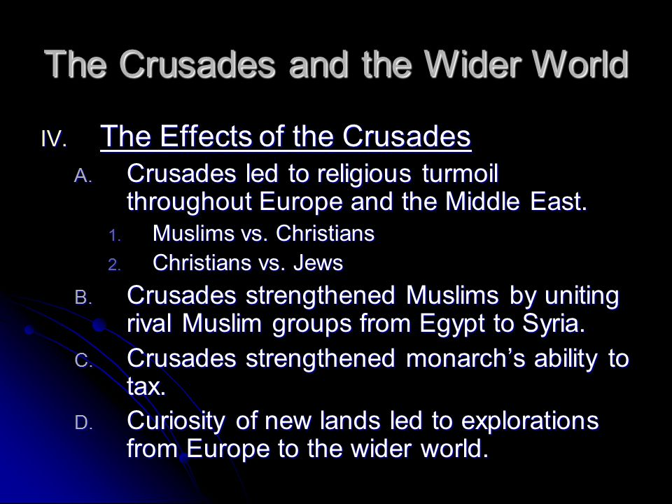 The Crusades and the Wider World