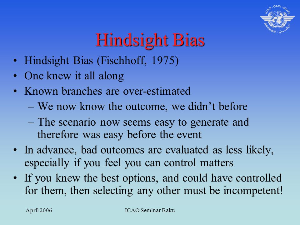 'I Knew It All Along…Didn't I?' – Understanding Hindsight Bias
