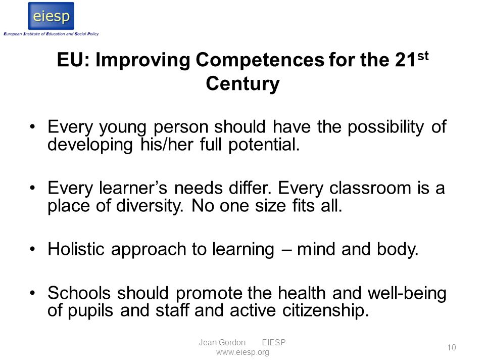 EU: Improving Competences for the 21st Century