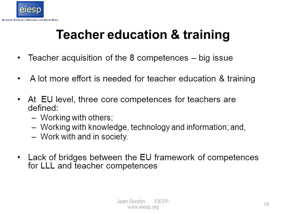 Teacher education & training