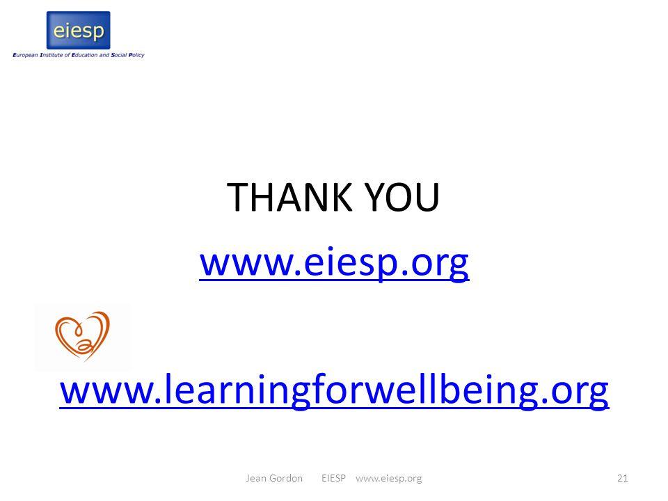 Jean Gordon EIESP www.eiesp.org