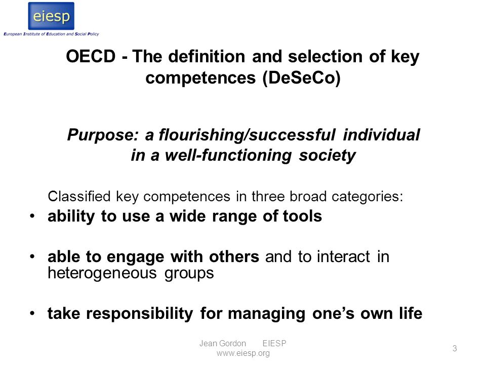OECD - The definition and selection of key competences (DeSeCo)