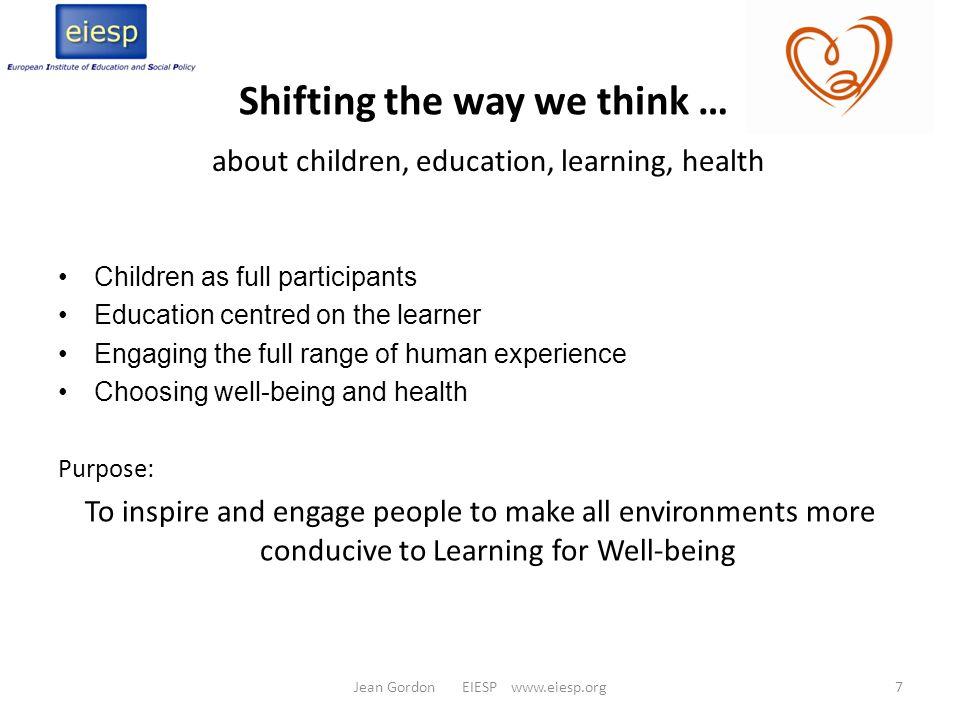 Shifting the way we think …