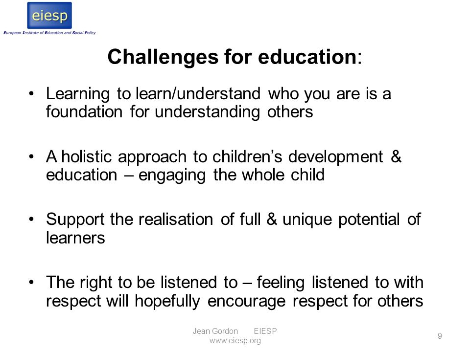 Challenges for education: