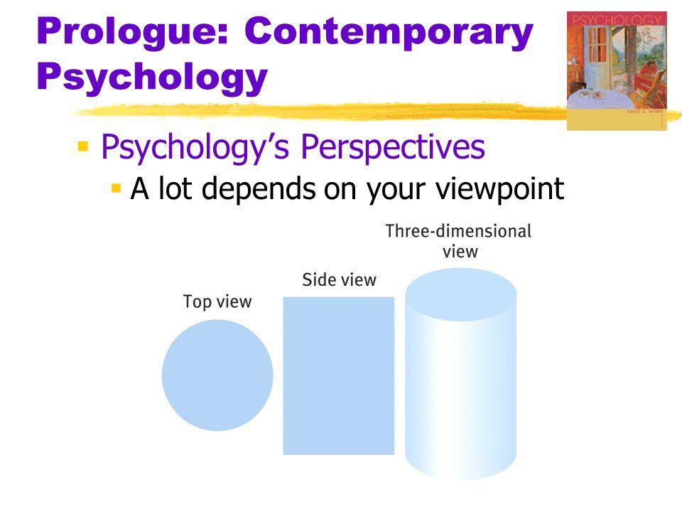 Prologue: Contemporary Psychology