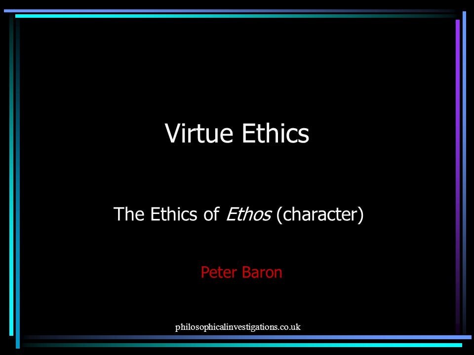 The Ethics of Ethos (character)