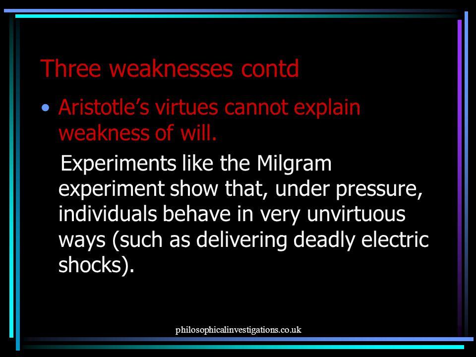 Three weaknesses contd