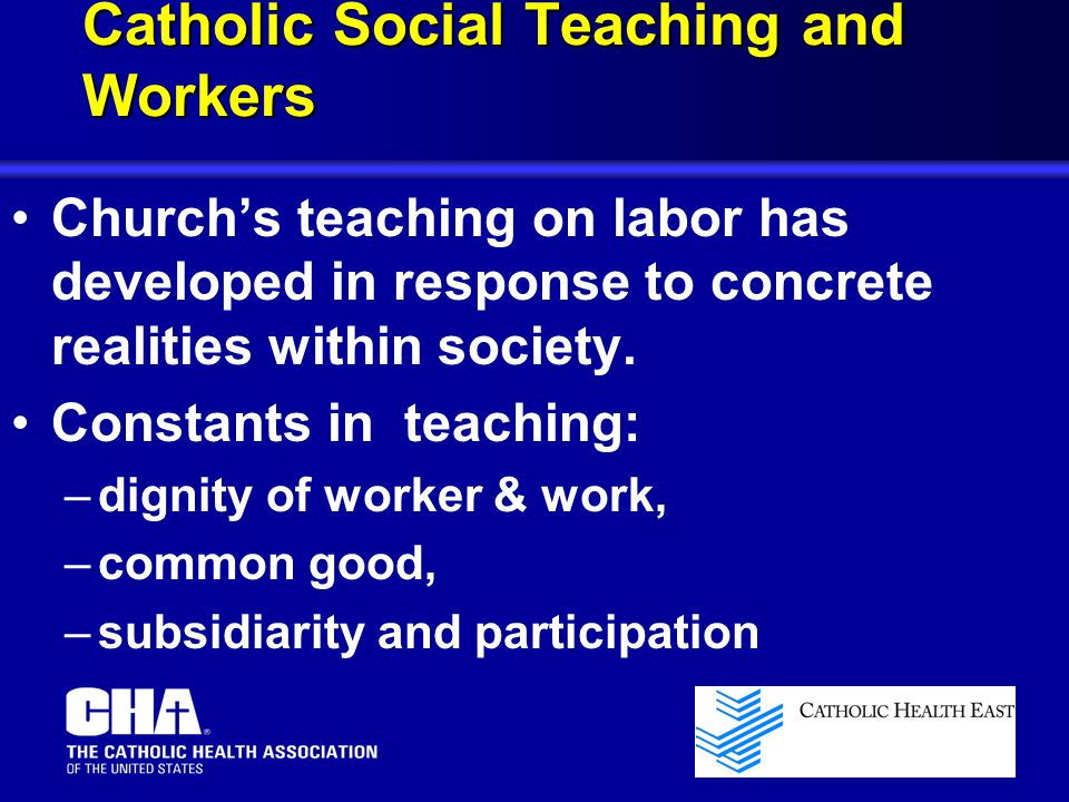 Catholic Social Teaching and Workers