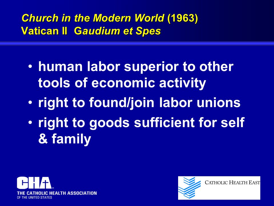 Church in the Modern World (1963) Vatican II Gaudium et Spes