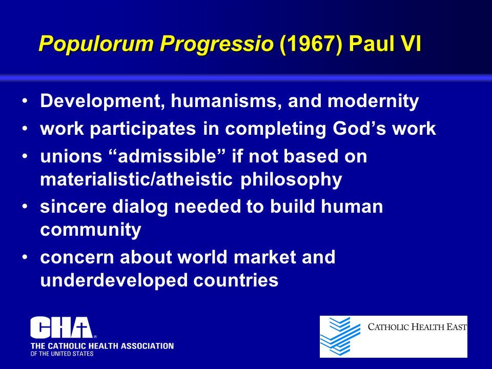 Populorum Progressio (1967) Paul VI