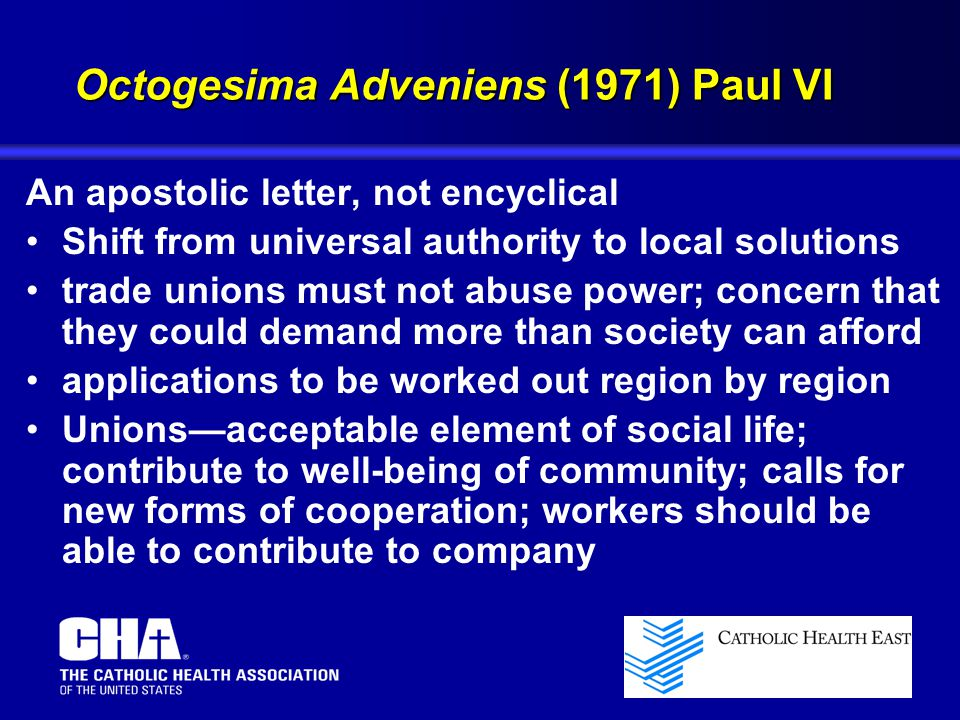 Octogesima Adveniens (1971) Paul VI