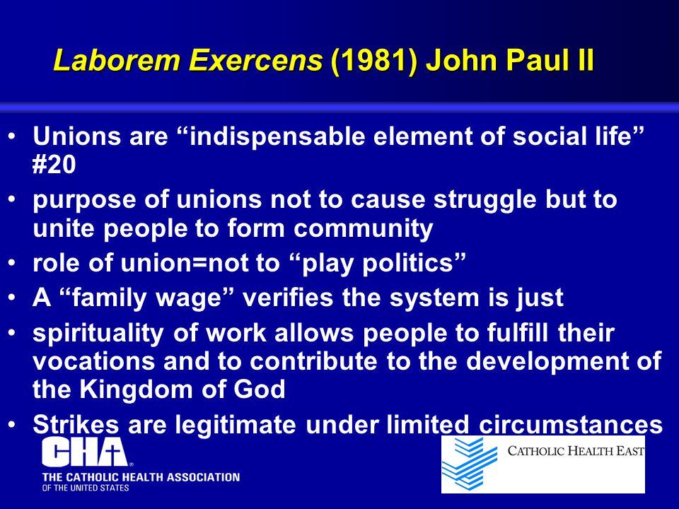 Laborem Exercens (1981) John Paul II