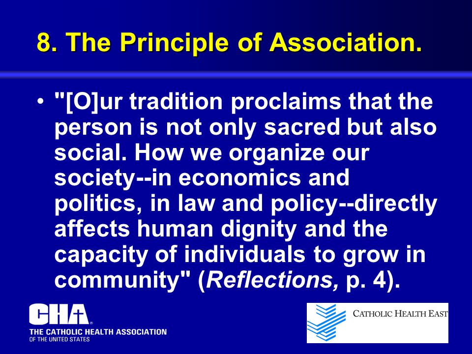 8. The Principle of Association.