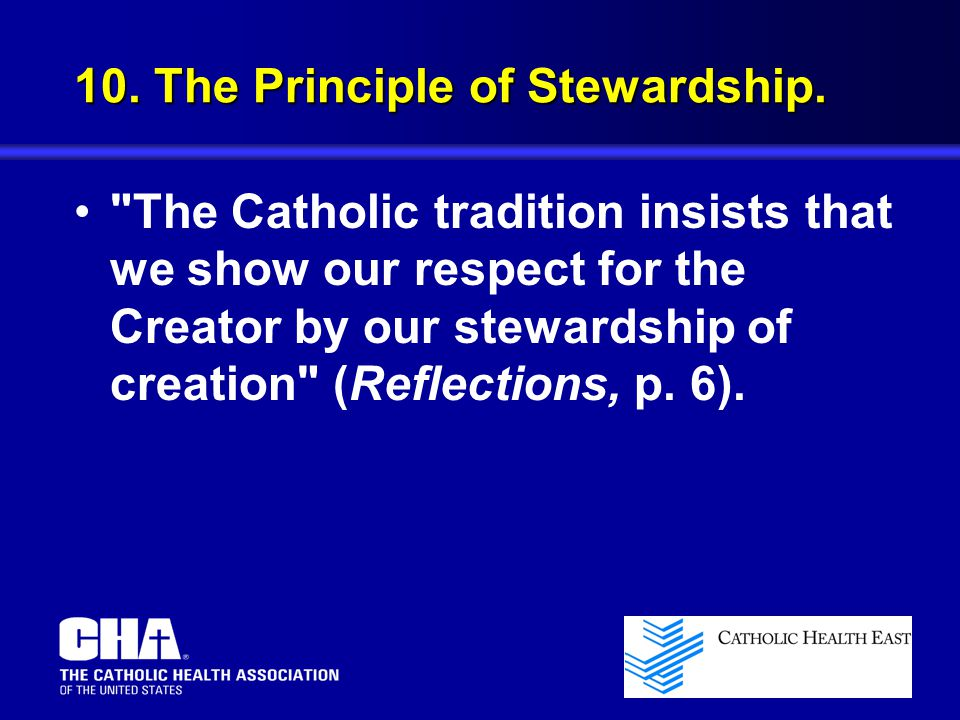 10. The Principle of Stewardship.