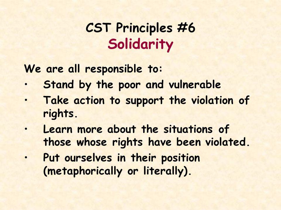 CST Principles #6 Solidarity