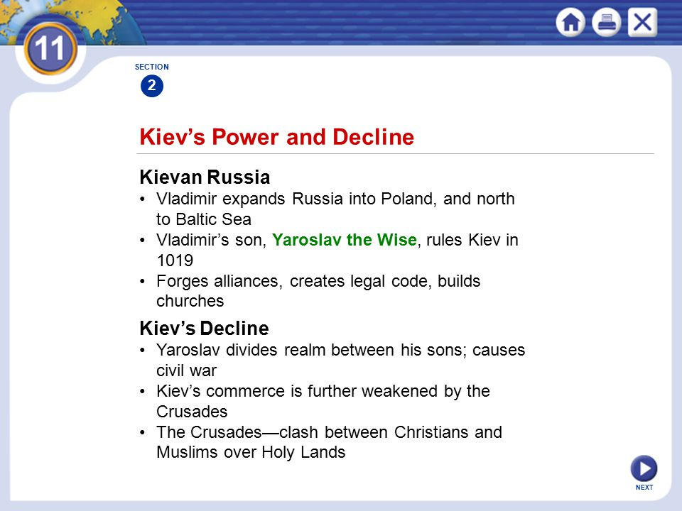 Kiev's Power and Decline