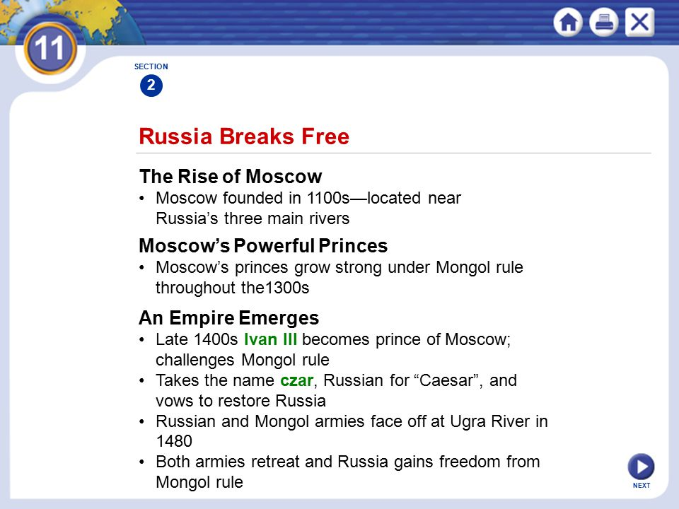 Russia Breaks Free The Rise of Moscow Moscow's Powerful Princes