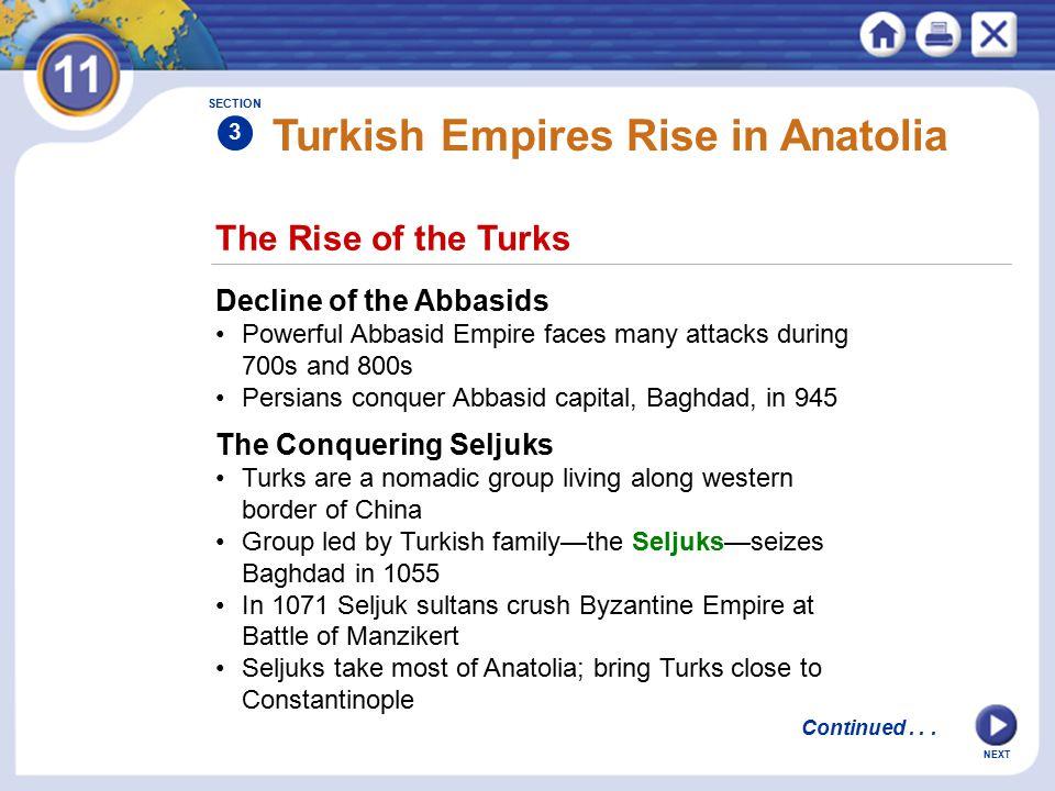 Turkish Empires Rise in Anatolia