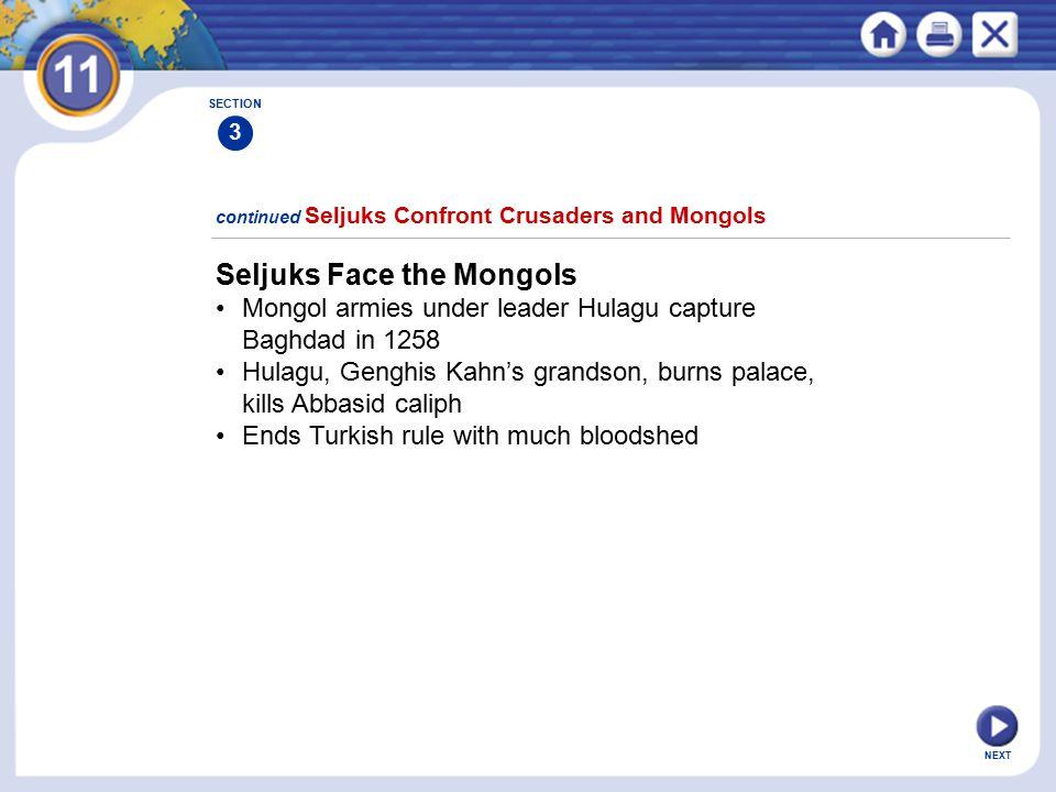 Seljuks Face the Mongols