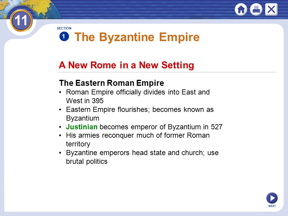 The Byzantine Empire A New Rome in a New Setting