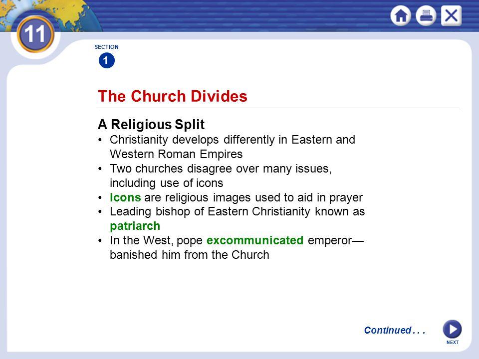 The Church Divides A Religious Split