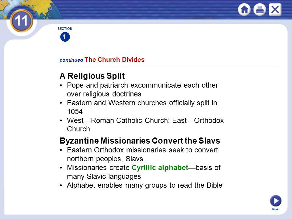 Byzantine Missionaries Convert the Slavs