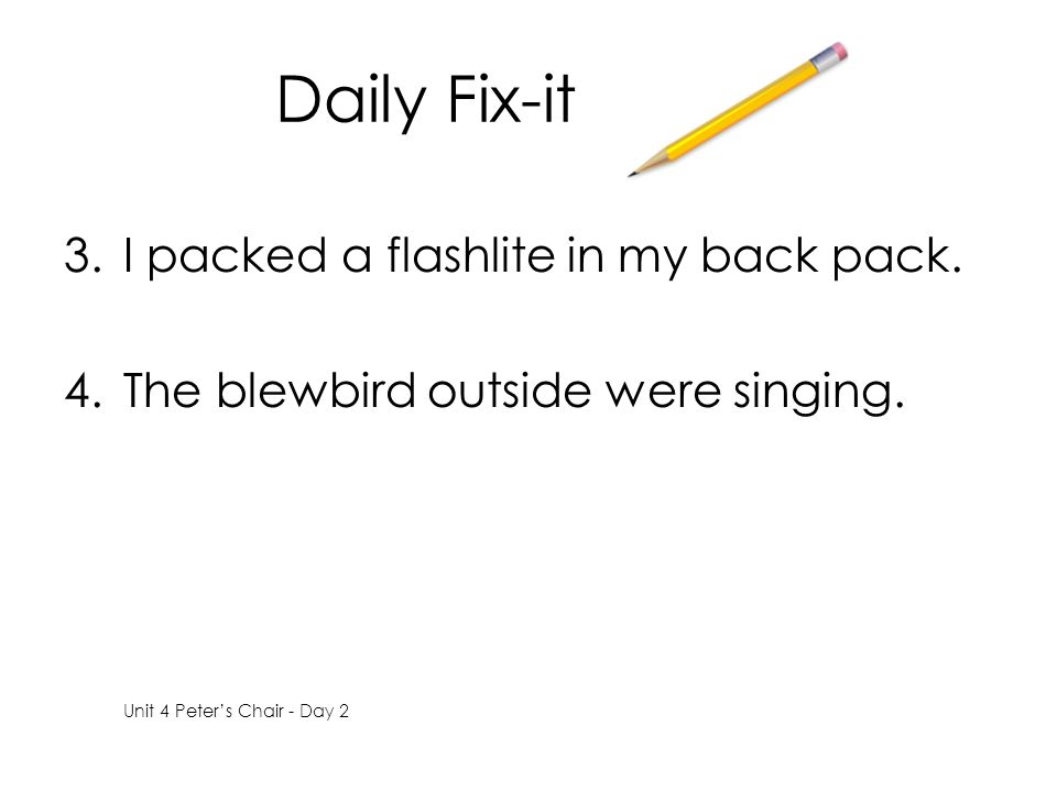 Daily Fix-it I packed a flashlite in my back pack.