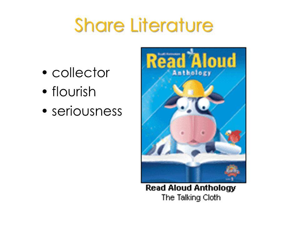 Share Literature collector flourish seriousness