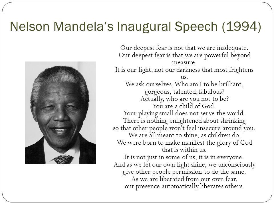 Nelson Mandela's Inaugural Speech (1994)