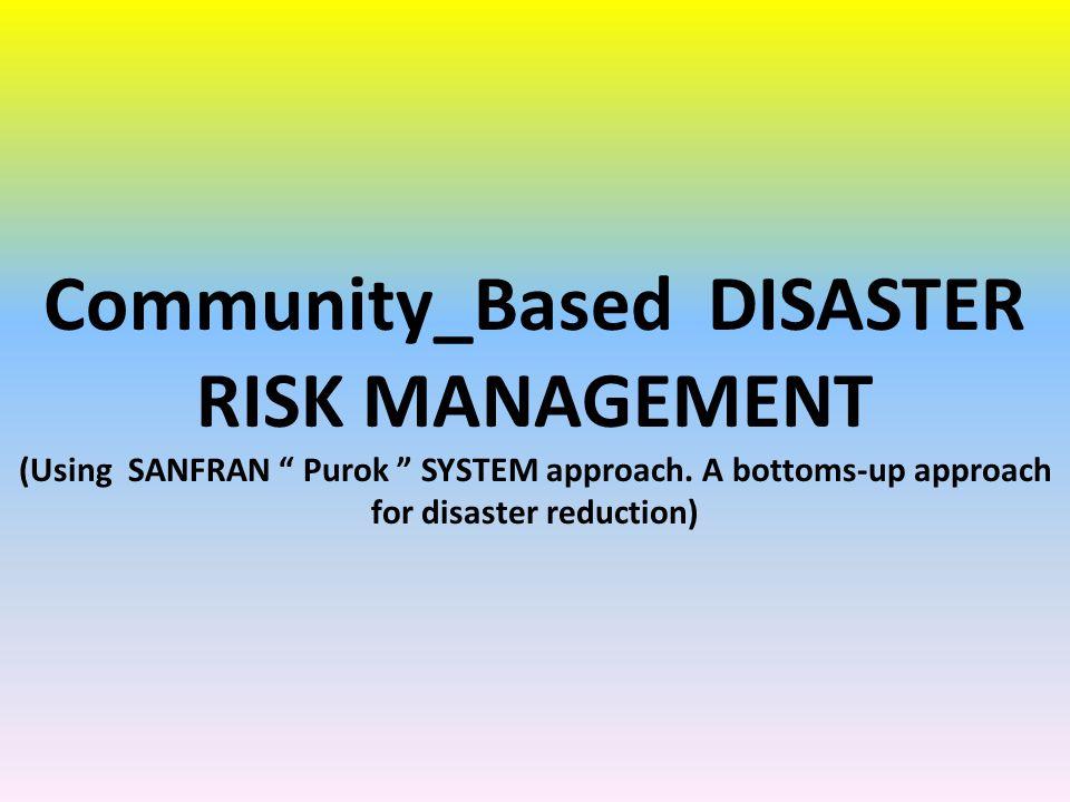Community_Based DISASTER RISK MANAGEMENT