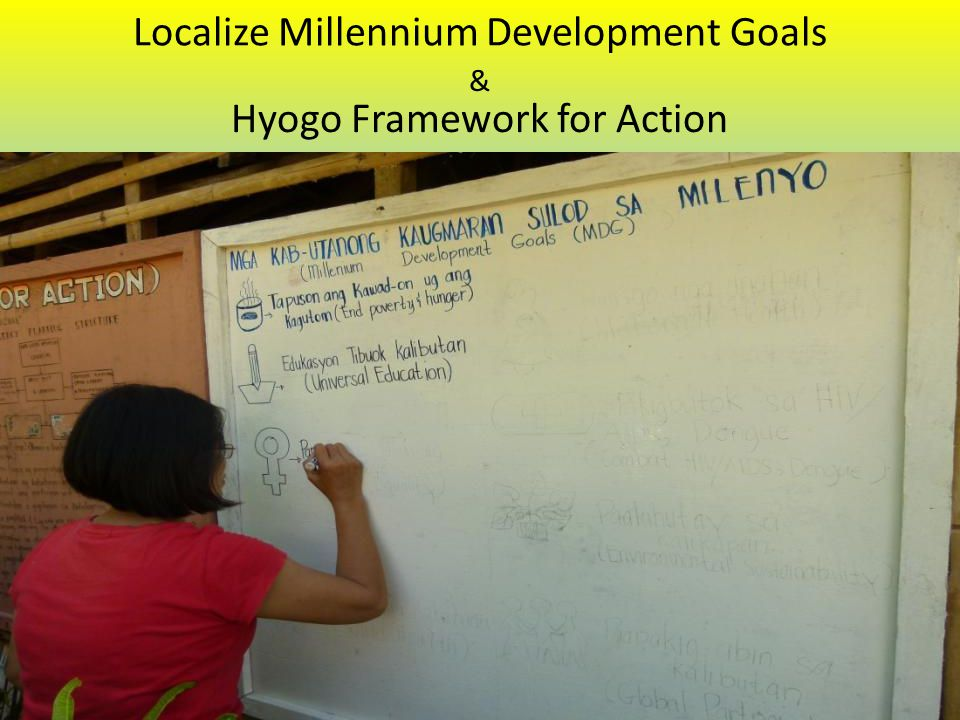 Localize Millennium Development Goals