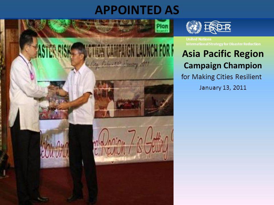 Asia Pacific Region Campaign Champion