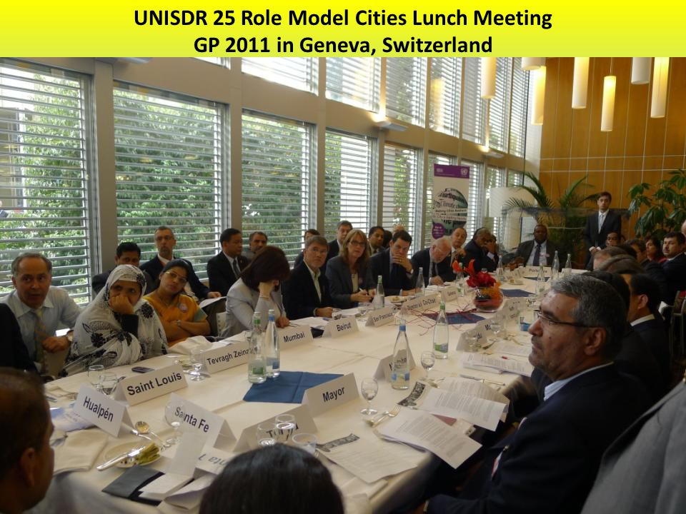 UNISDR 25 Role Model Cities Lunch Meeting