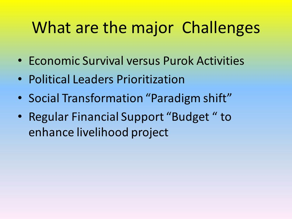 What are the major Challenges