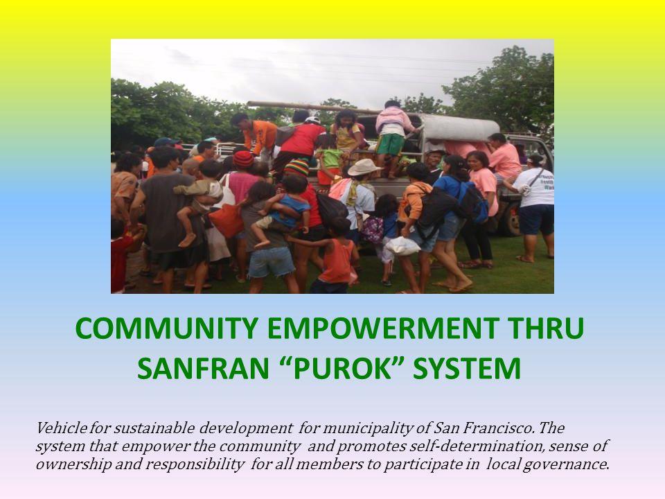 COMMUNITY EMPOWERMENT THRU SANFRAN PUROK SYSTEM