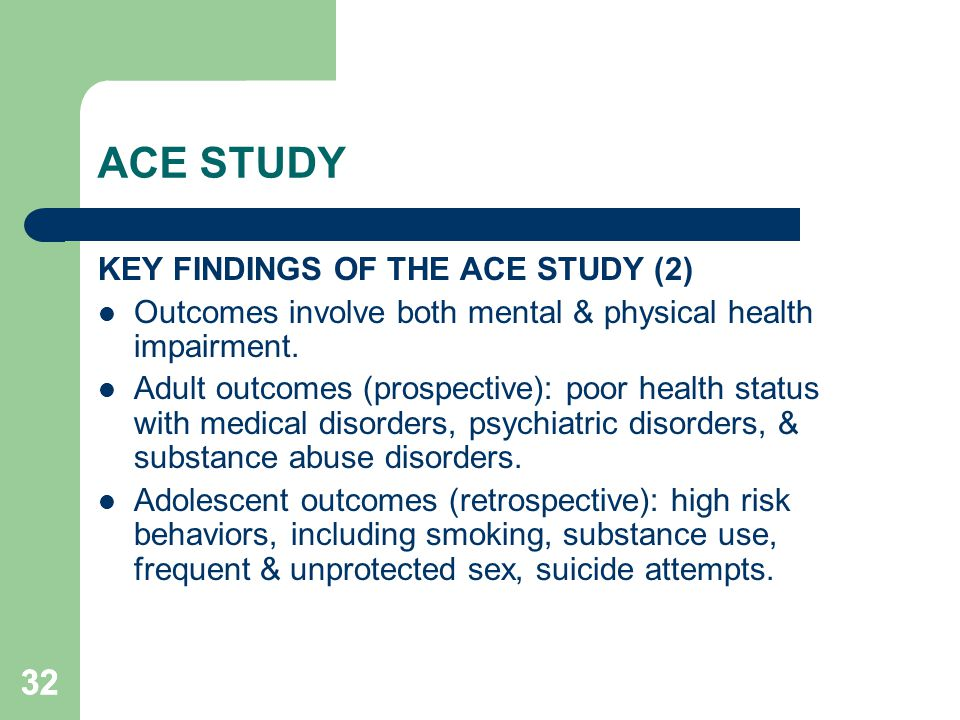ACE STUDY 32 KEY FINDINGS OF THE ACE STUDY (2)