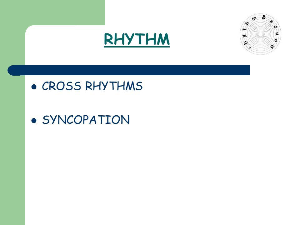 RHYTHM CROSS RHYTHMS SYNCOPATION