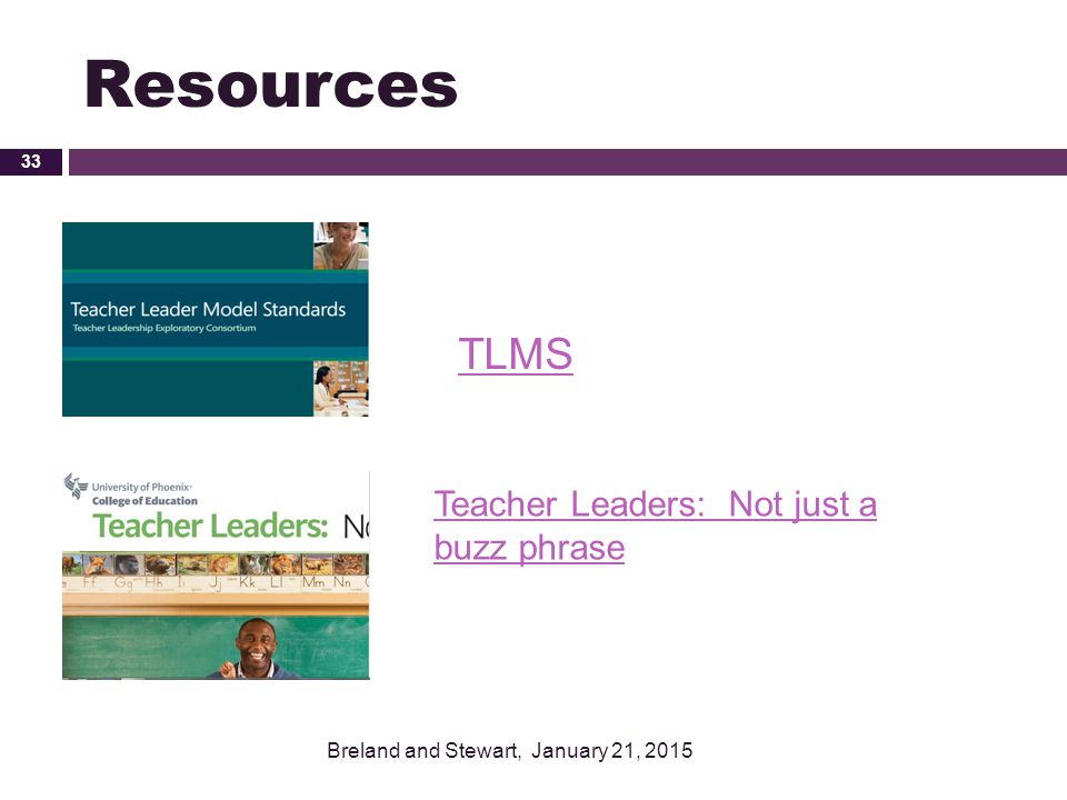 Resources TLMS Teacher Leaders: Not just a buzz phrase