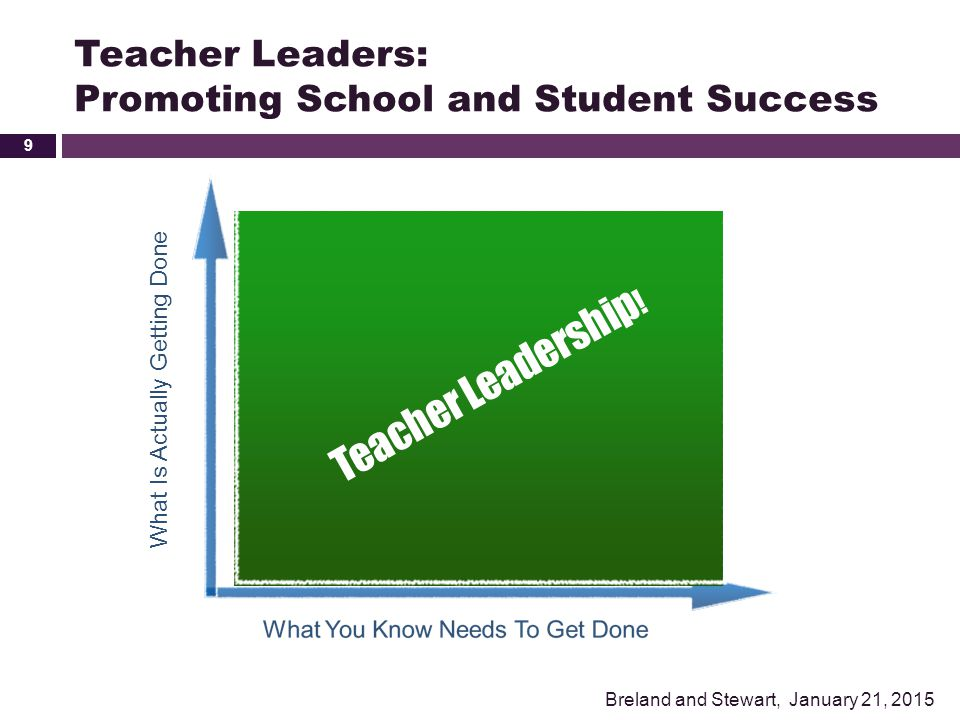 Teacher Leaders: Promoting School and Student Success