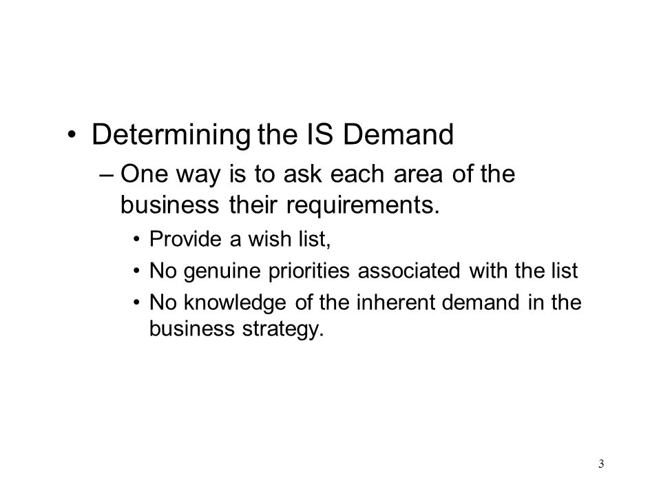 Determining the IS Demand
