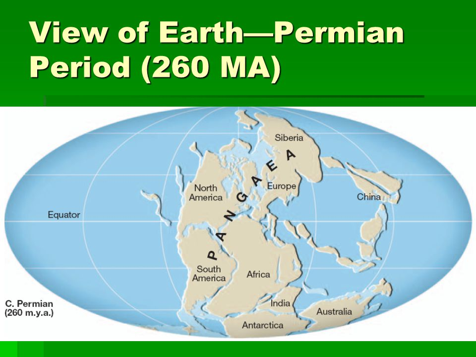 View of Earth—Permian Period (260 MA)