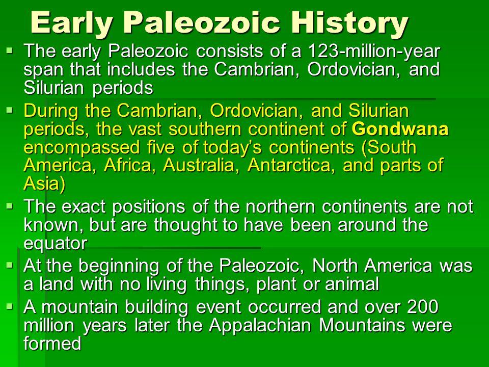 Early Paleozoic History