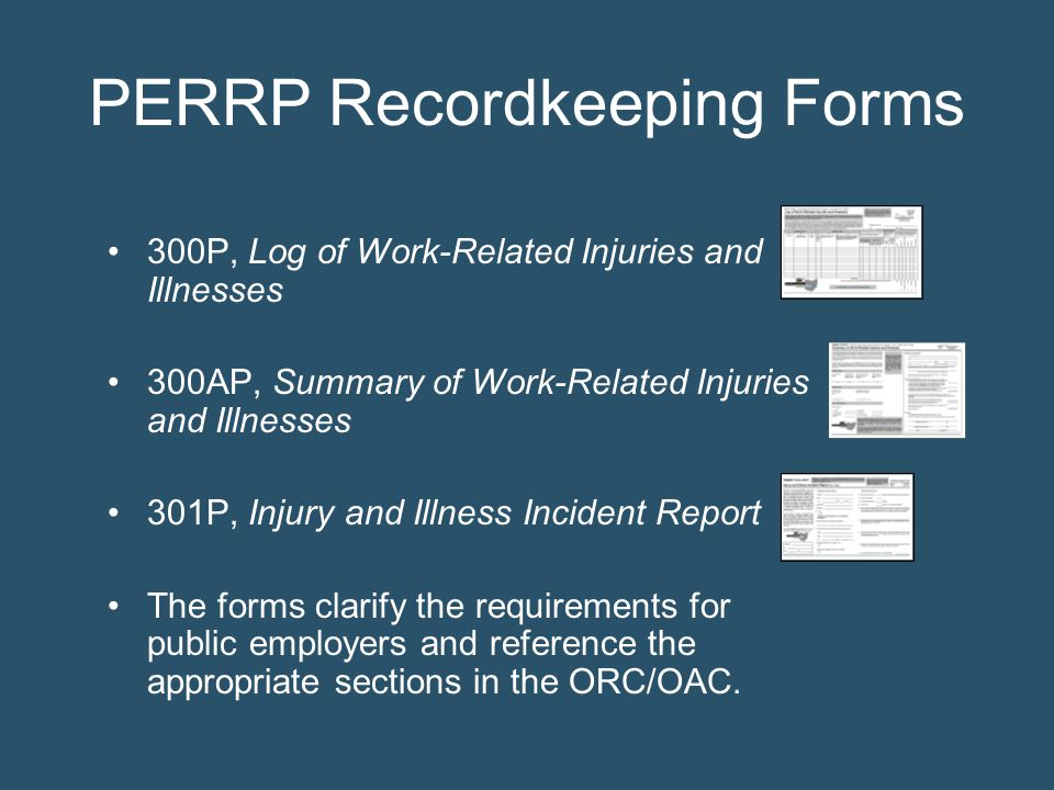 PERRP Recordkeeping Forms