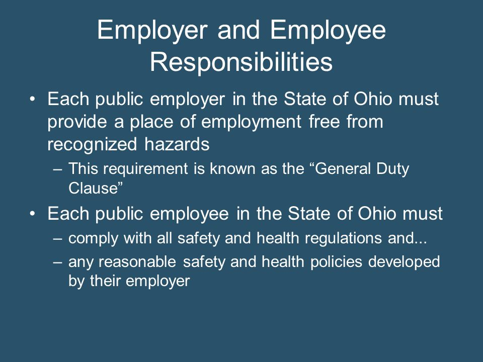 Employer and Employee Responsibilities