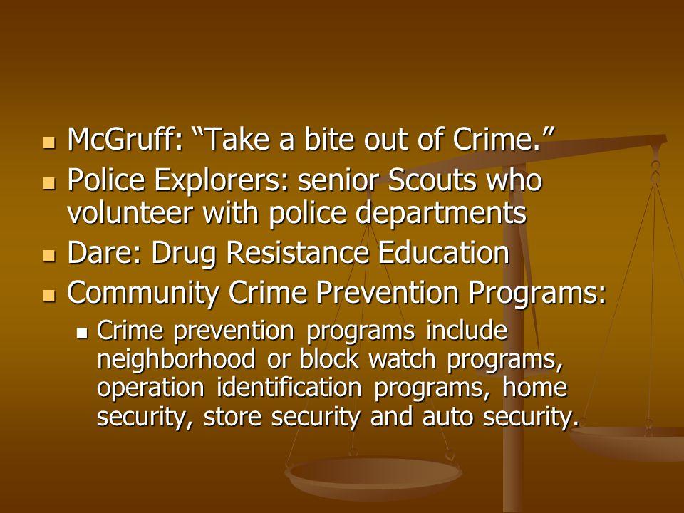 McGruff: Take a bite out of Crime.